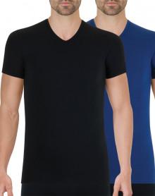 Lote de 2 camisetas Athena Full Stretch (Negro - Azul marino)