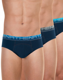 Set of 3 Athena Briefs Organic Cotton (Navy Blue)