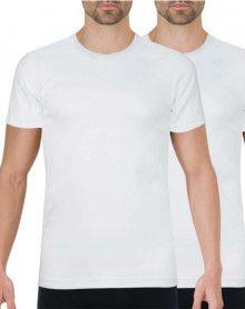 Lote de 2 camisetas con cuello redondo Athena orgánico (Blanco)
