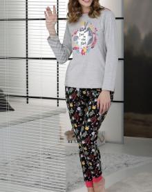 Pyjama gris chiné Massana