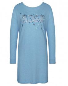 Chemise de nuit chaude 100% coton Triumph (Blue-Light)