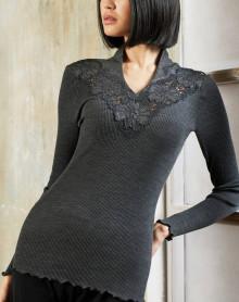 Blusa cuello alto Oscalito 3438 Negro