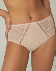 High waist brief Simone Pérèle Comète (Sable Rosé)