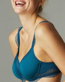 sujetador con aros curvo espaciador Simone Pérèle Éclat (Bleu Canard)