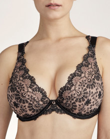 Triangle comfort plunge bra Aubade Art of Ink (Icone)