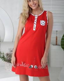 Red nightdress with dots Massana