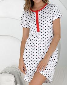 White nightdress with dots Massana