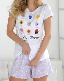 Pyjama short with flowers Massana
