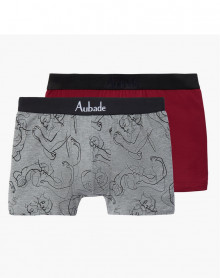 Boxers Aubade Men (Love / Uni Bordeaux) (Pack of 2)