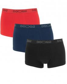 Boxer Hom Boxerlines lot de 3 (Noir/rouge/Marine)