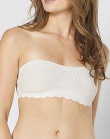 Strapless bra lace Sloggi Zero Feel Lace (Angora)