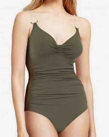 Underwired one-piece Swimsuit Chantelle Glory (Khaki Gold)