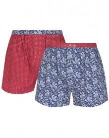 Paquete de 2 Azulejos de cadena y trama de ropa interior Mariner (Marine/Rouge)