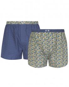 Paquete de 2 Azulejos de cadena y trama de ropa interior Mariner (Indigo)