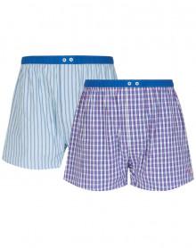 Paquete de 2 Azulejos de cadena y trama de ropa interior Mariner (Ciel/Royal)