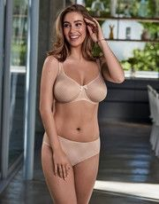 Collection Caroline (Rose Poudré) of the brand of lingerie Rosa Faia