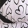 Imprimé coeur dentelles